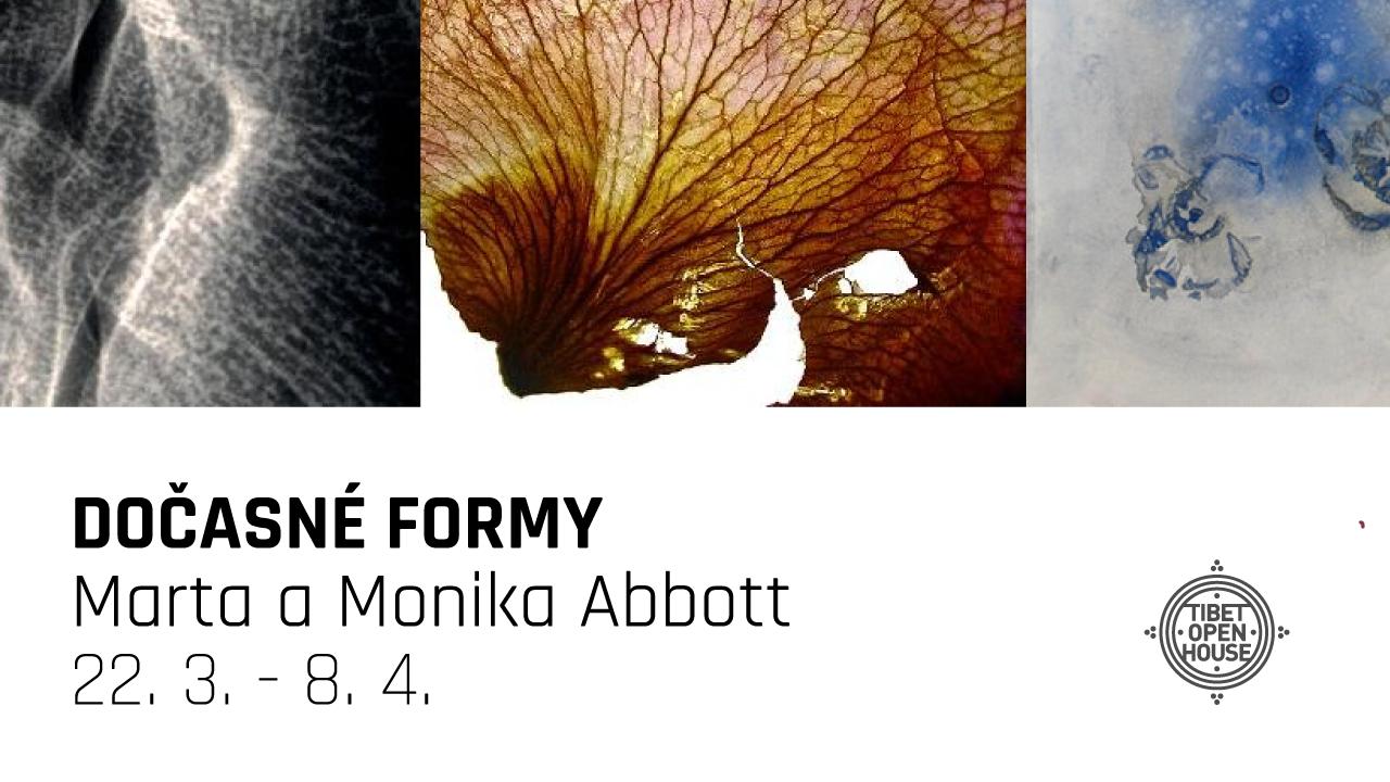 Monika a Marta Abbott: Dočasné formy (vernisáž 22.3.2018)