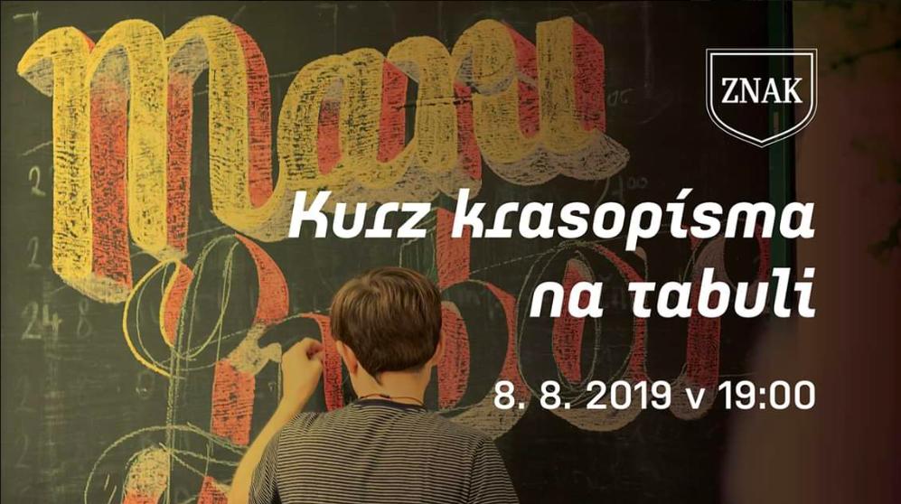 čt 8/8 // 19:00 // workshop // Kurz krasopísma // ve ZNAKU