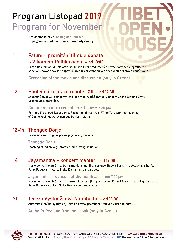 Program Tibet Open House